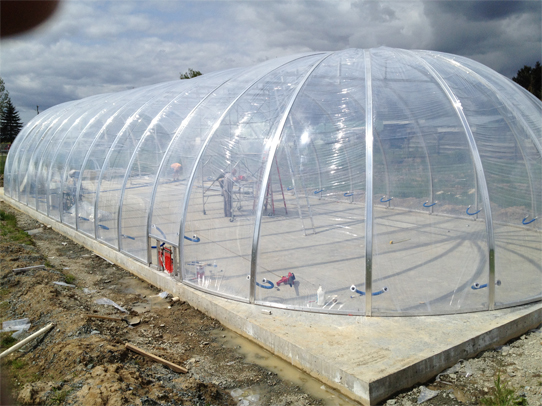 Biodome covered with ETFE pneumatic pillows