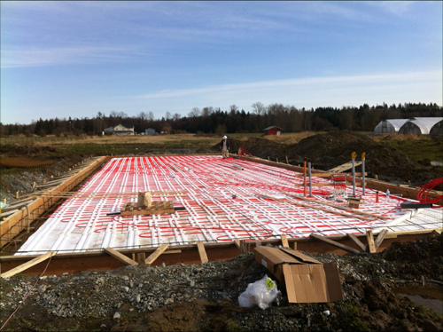 Building Biodome Thermal Insulation Floor Heating 1